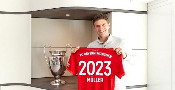 Thomas Müller ile Bayern Münih 2023'e kadar sözleşme imzaladı