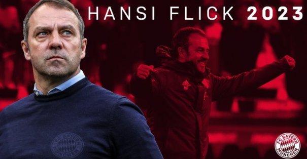 Bayern Münih Hansi Flick ile 2023'e kadar uzattığını duyurdu